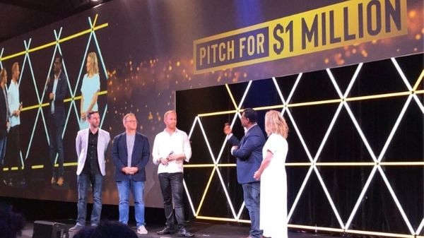 Richard Savoie, Justin Wastnage and Tal Rapke finalists for Pitch for $1m on stage